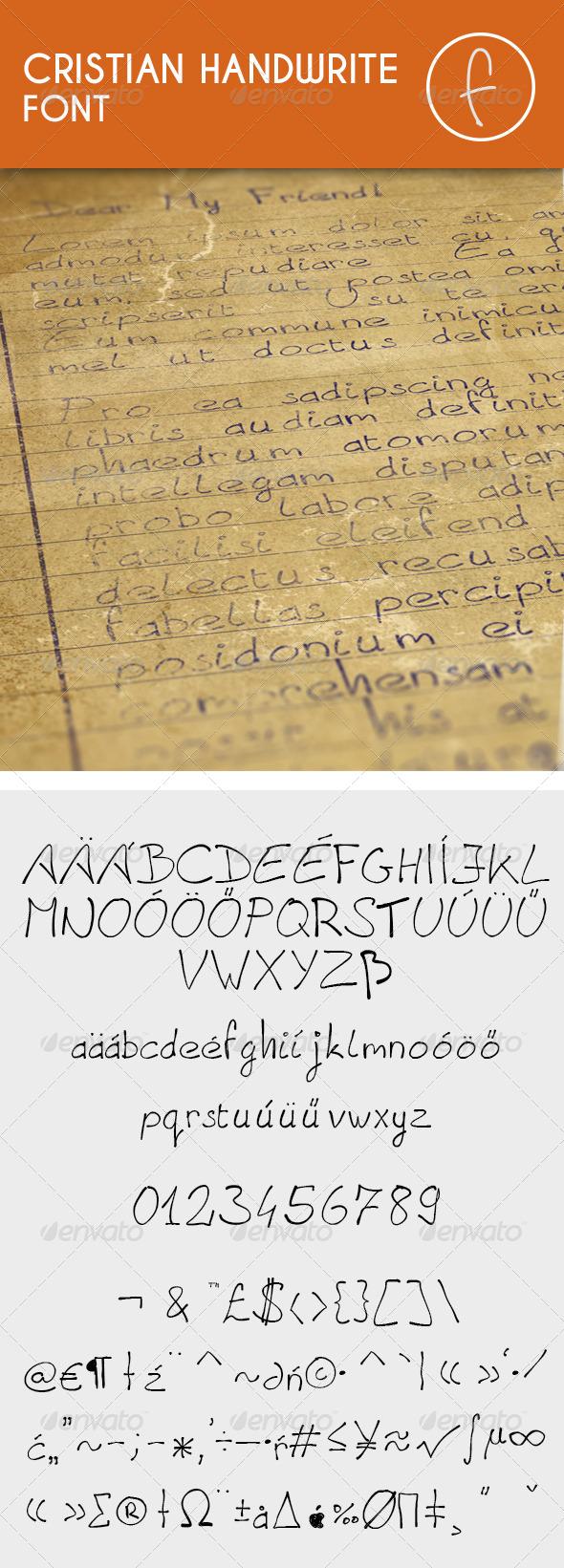 GraphicRiver Cristian Handwrite Font 7614887