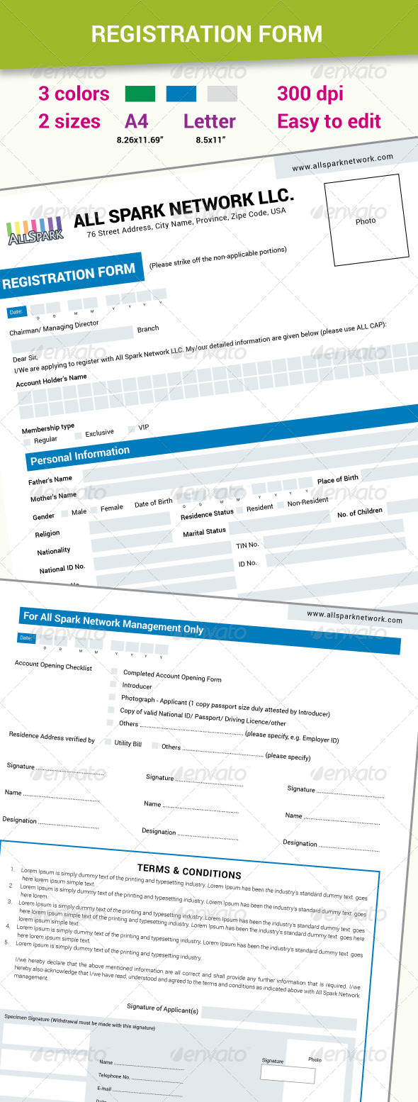 GraphicRiver Two page Registration Form 7601662