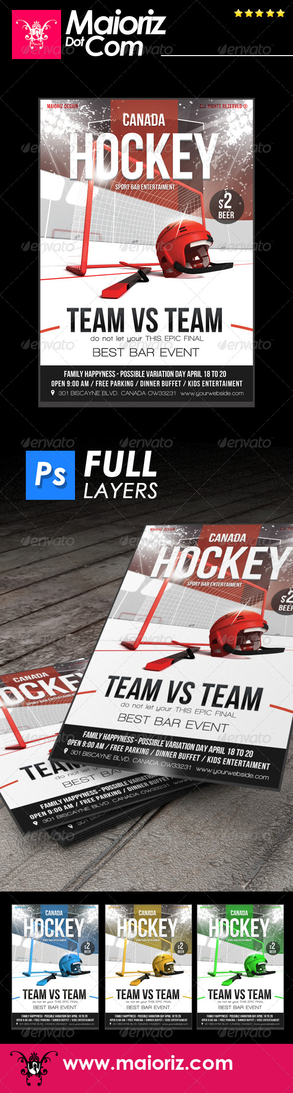 GraphicRiver Hockey Game Flyer 7614950