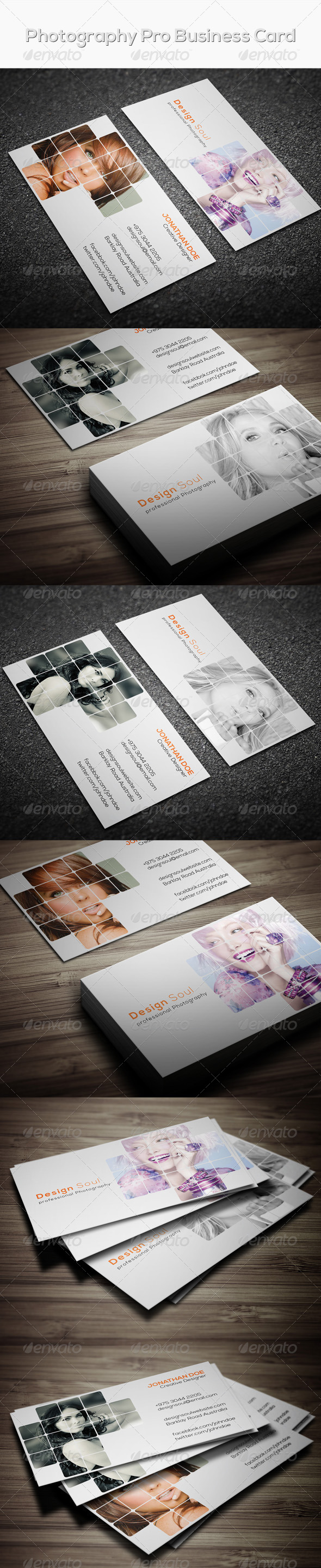 GraphicRiver Photography Pro Business Card 7615001
