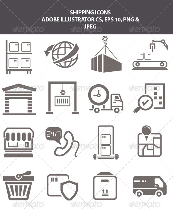 GraphicRiver Shipping Icons 7615221