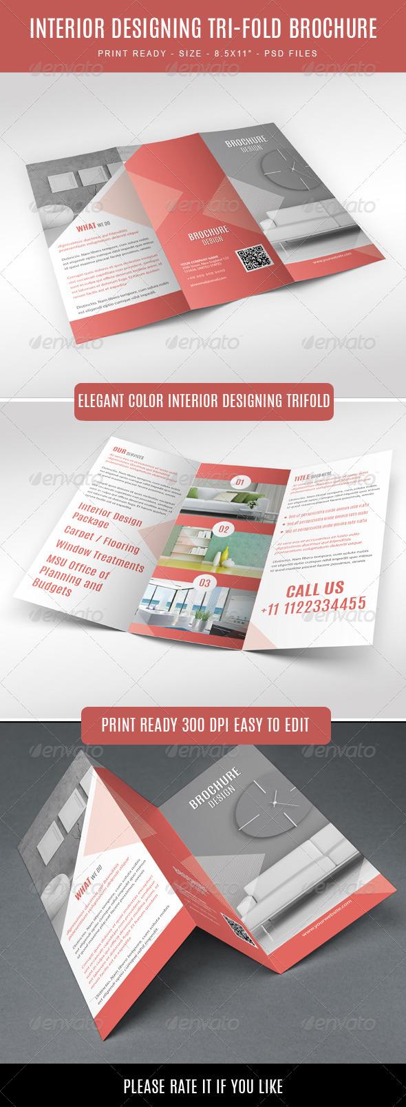 GraphicRiver Interior Designing Tri-fold Brochure 7602402