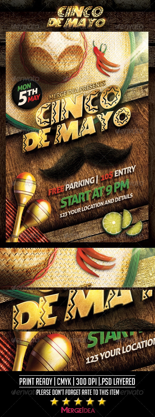 GraphicRiver Cinco De Mayo Flyer 7615265