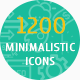 1200 Minimalistic Icons - GraphicRiver Item for Sale