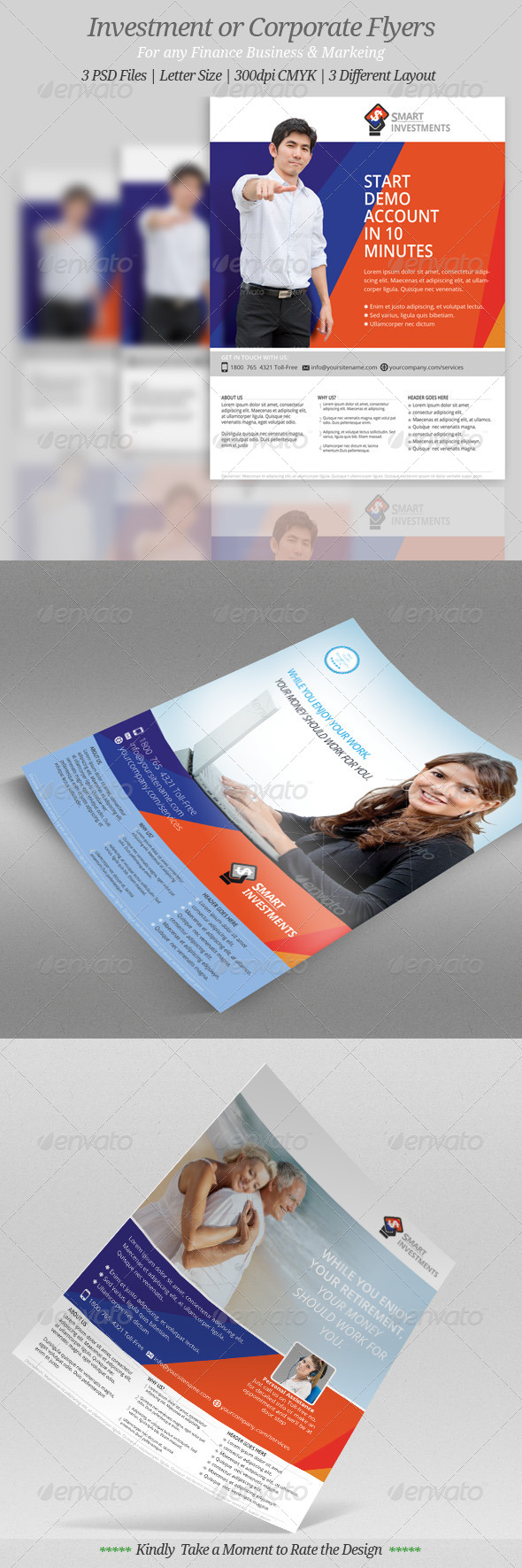 GraphicRiver Investment or Corporate Flyer Templates 7606134
