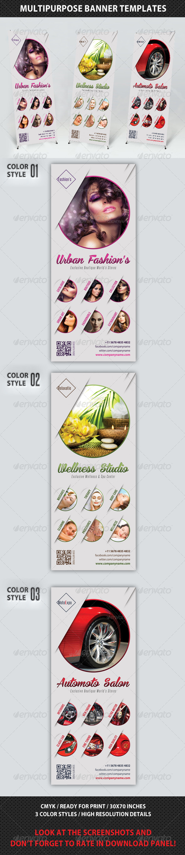 GraphicRiver Multipurpose Banner Template V03 7615661