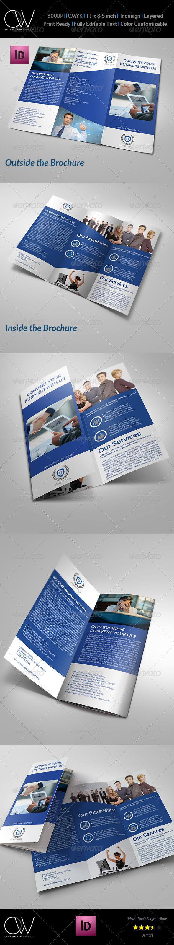GraphicRiver Company Brochure Tri-Fold TemplateVol.9 7615958