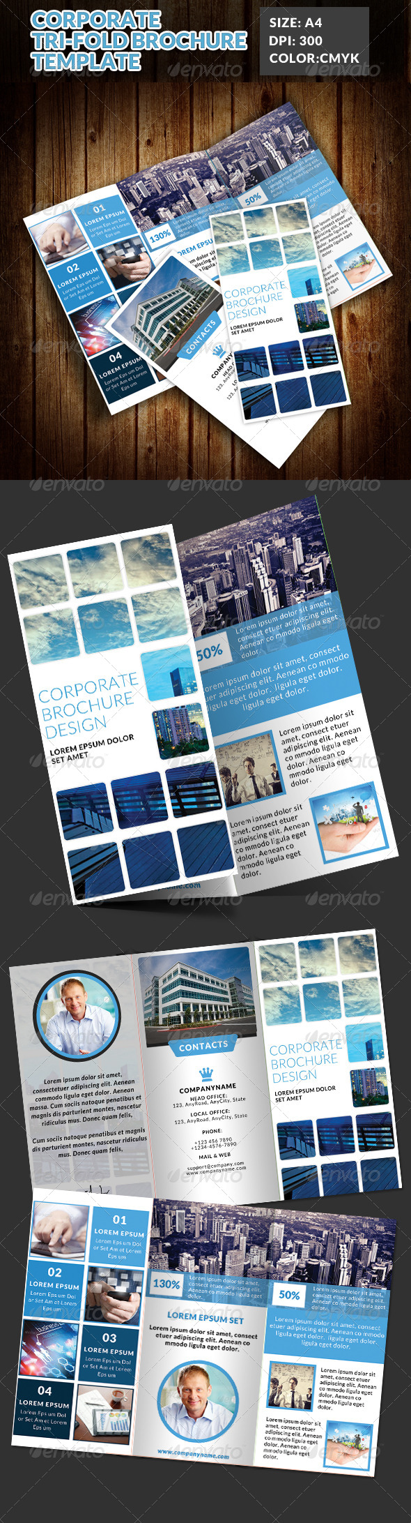 GraphicRiver Corporate Tri-Fold Brochures Template 7 7615987