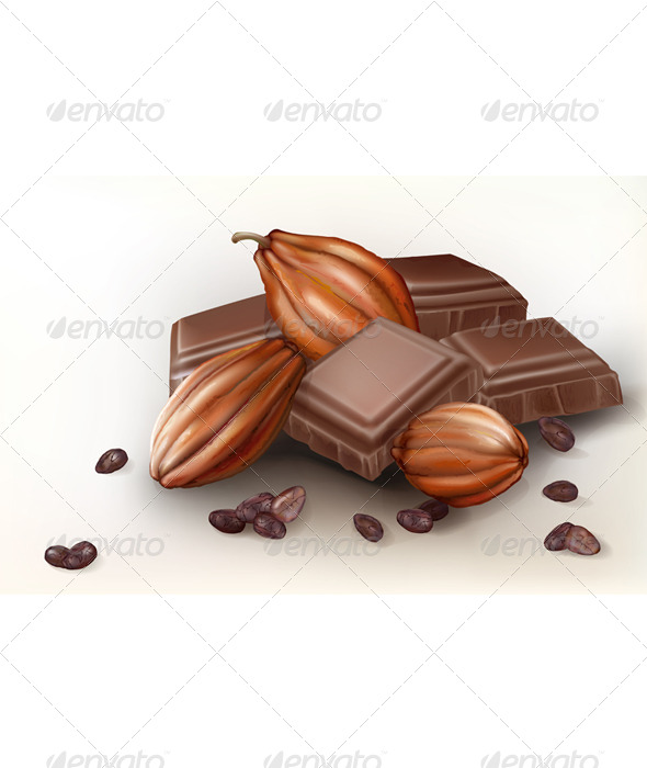 GraphicRiver Chocolate and Cacao Fruit 7616042