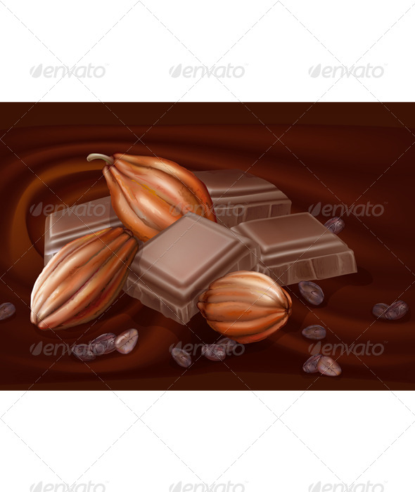 GraphicRiver Chocolate and Cacao Pods 7616062