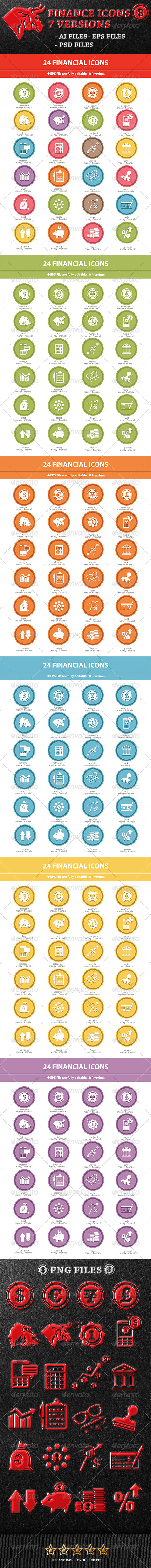 GraphicRiver Finance Icons 7 Version 7616614