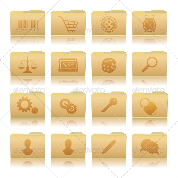 GraphicRiver Set of Folders with Symbols 7616681