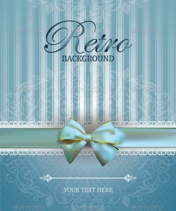 GraphicRiver Vintage Card with Bow 7616710