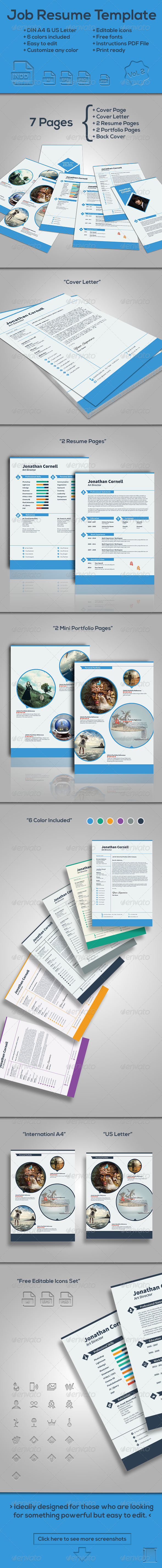 GraphicRiver Job Resume Template Vol.2 7616817