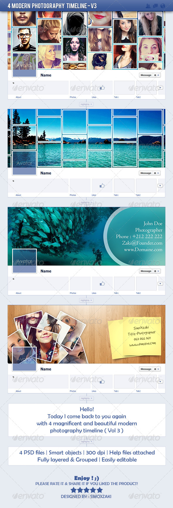 GraphicRiver 4 modern photography timeline V3 7617063