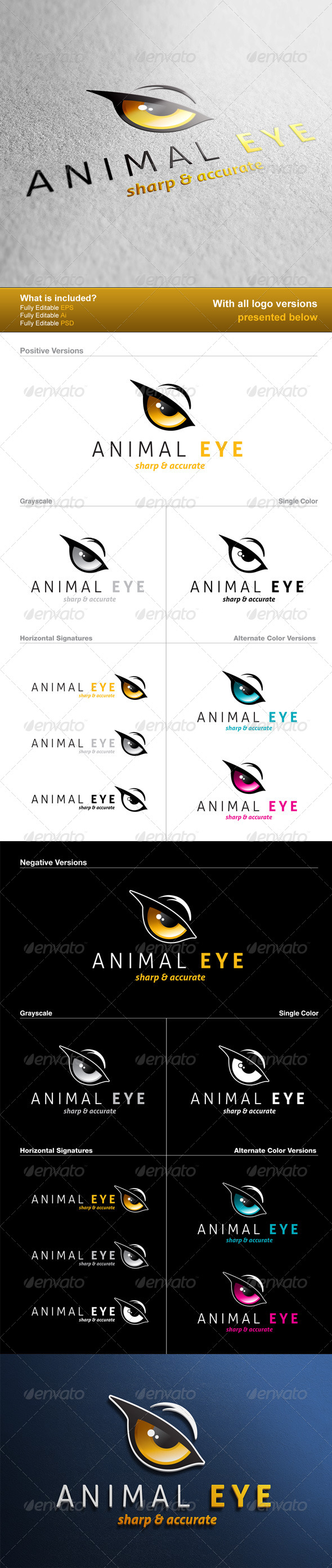Animal Eye Logo - Animals Logo Templates