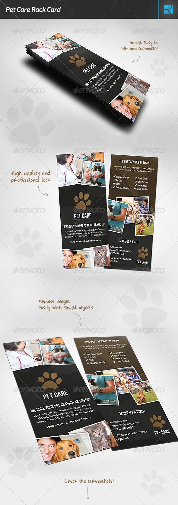 GraphicRiver Pet Care Rack Card 7617759