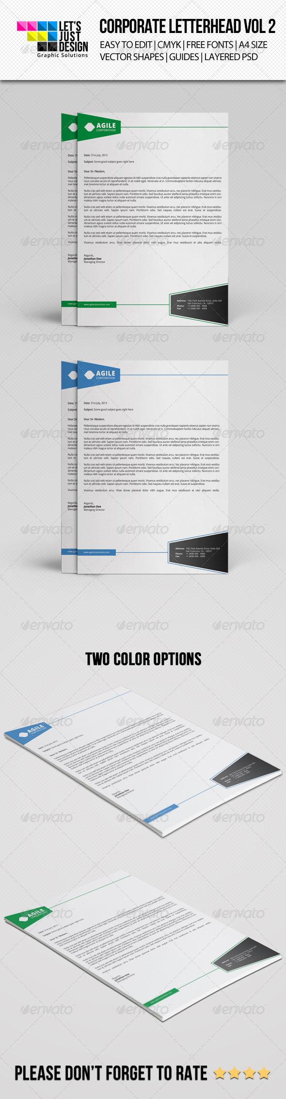 GraphicRiver Corporate Letterhead Vol 2 7618065