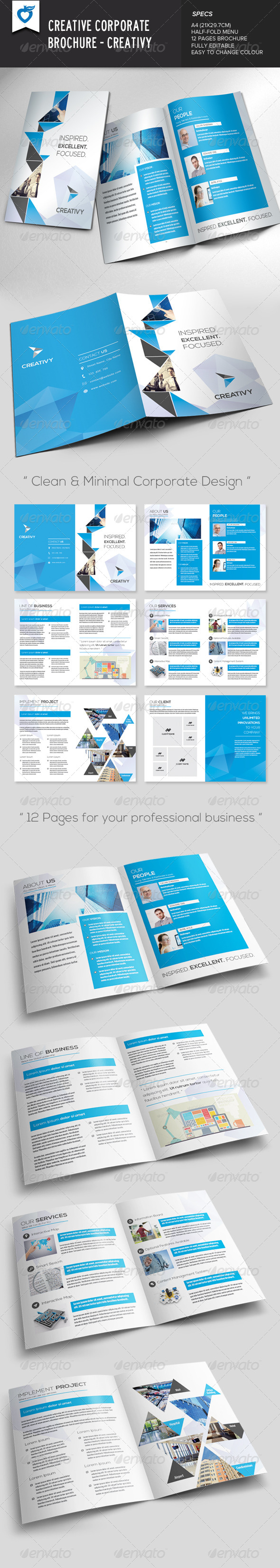 GraphicRiver Creative Corporate Brochure Creativy 7614842