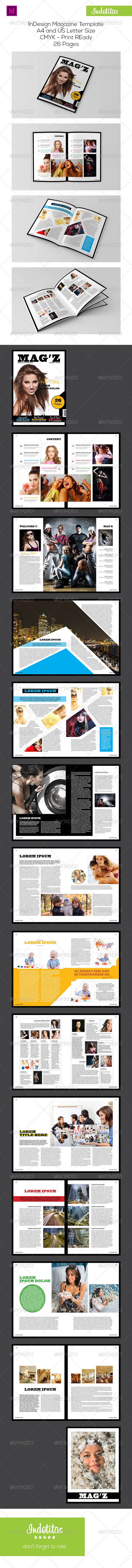 GraphicRiver InDesign Magazine Template 7618903