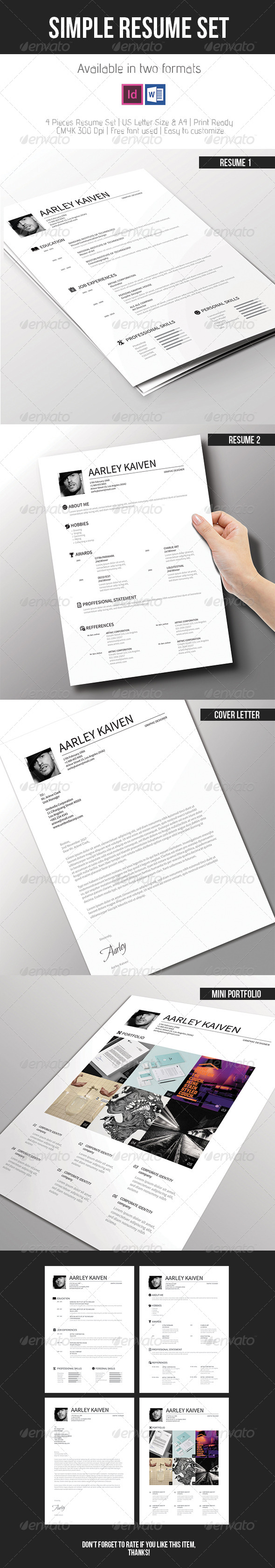 GraphicRiver Simple Resume Set 7618975
