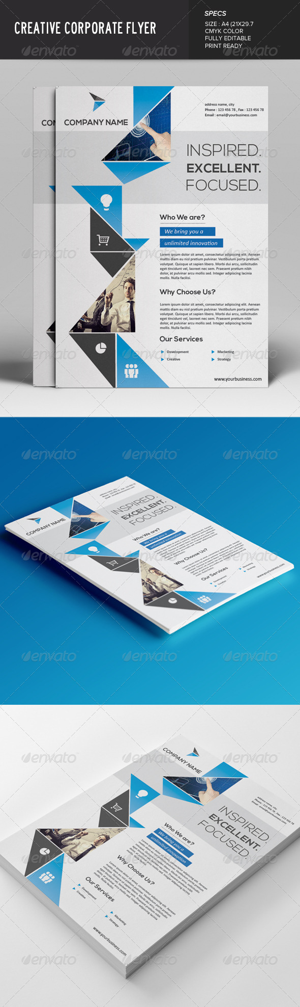 GraphicRiver Creative Corporate Flyer 7619364