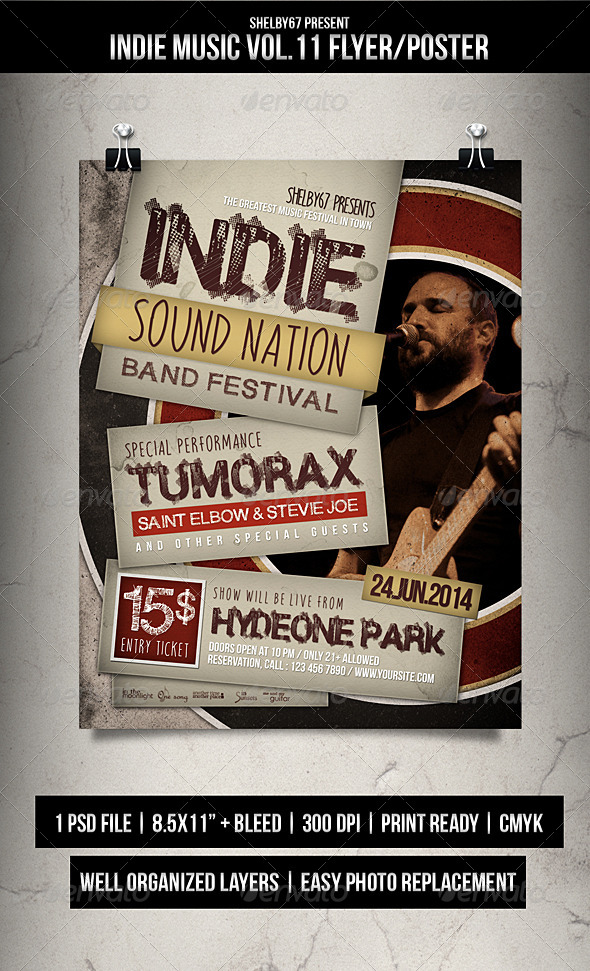 GraphicRiver Indie Music Flyer Poster Vol.11 7619366