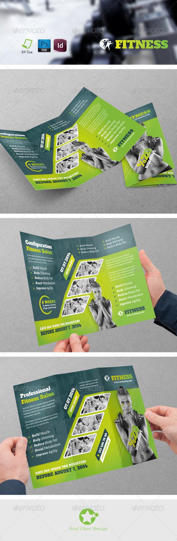 GraphicRiver Fitness Salon Tri-Fold Templates 7619572