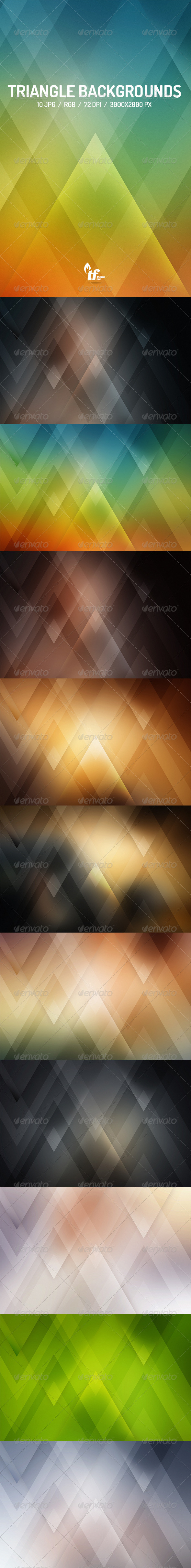 GraphicRiver Triangle Backgrounds 7620646