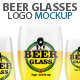 Beer Glasses Logo Mockup - GraphicRiver Item for Sale