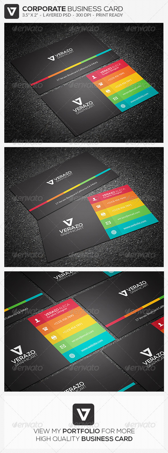 GraphicRiver Modern & Flat Business Card 32 7620723