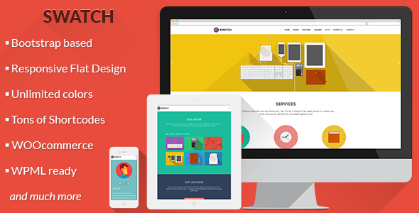 Swatch - Flat Responsive Multi-Purpose WP Theme - Business Corporate