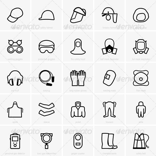 GraphicRiver PPE Icons 7620789