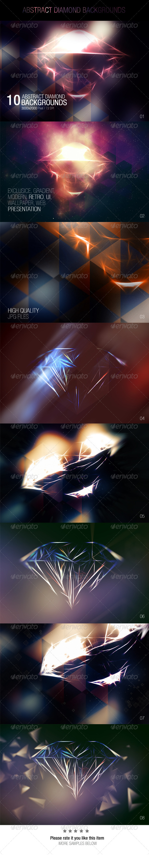 GraphicRiver Abstract Diamond Backgrounds 7620925