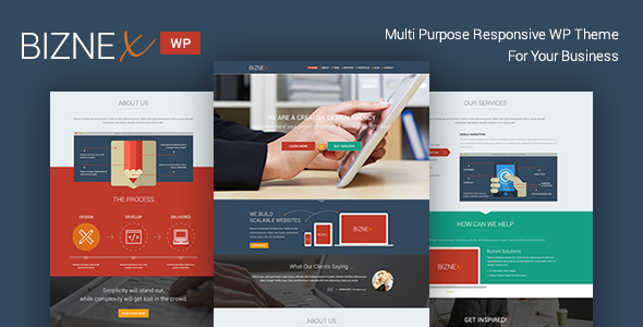 BizNex | Multi Purpose Parallax WordPress Theme