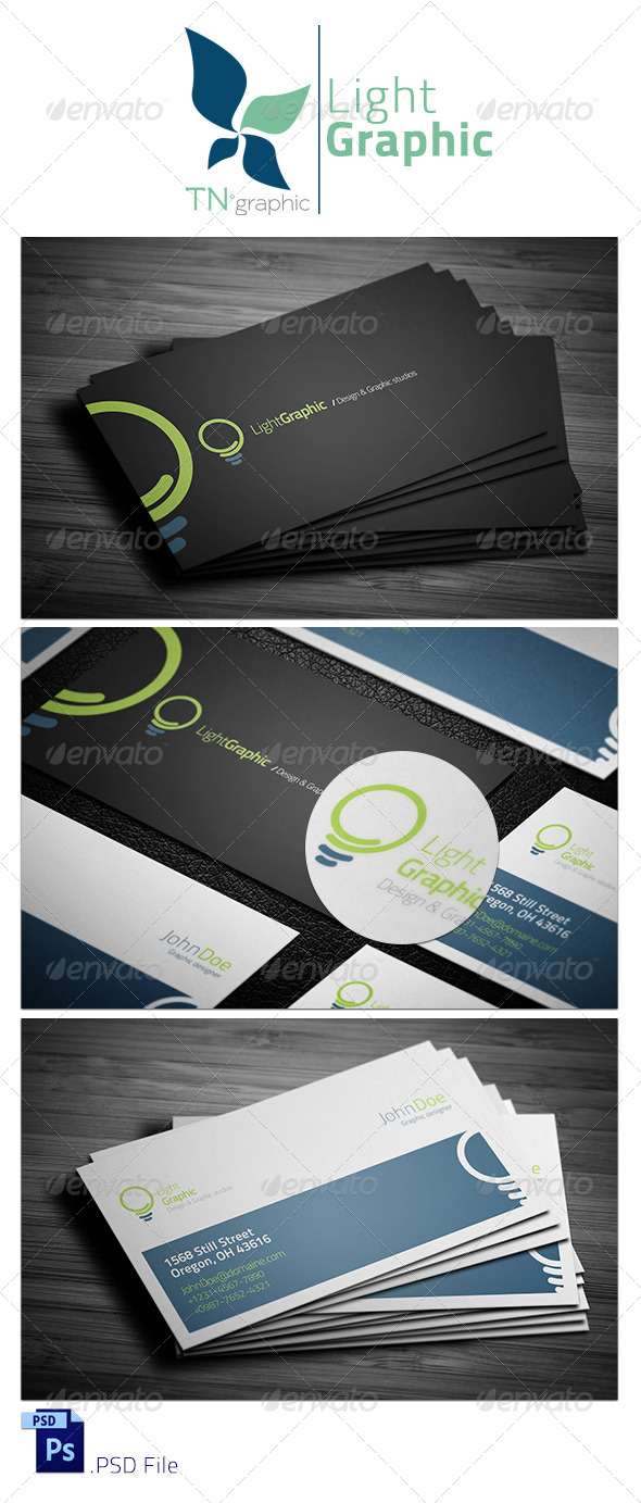 GraphicRiver LightGraphic Business Card 7621384
