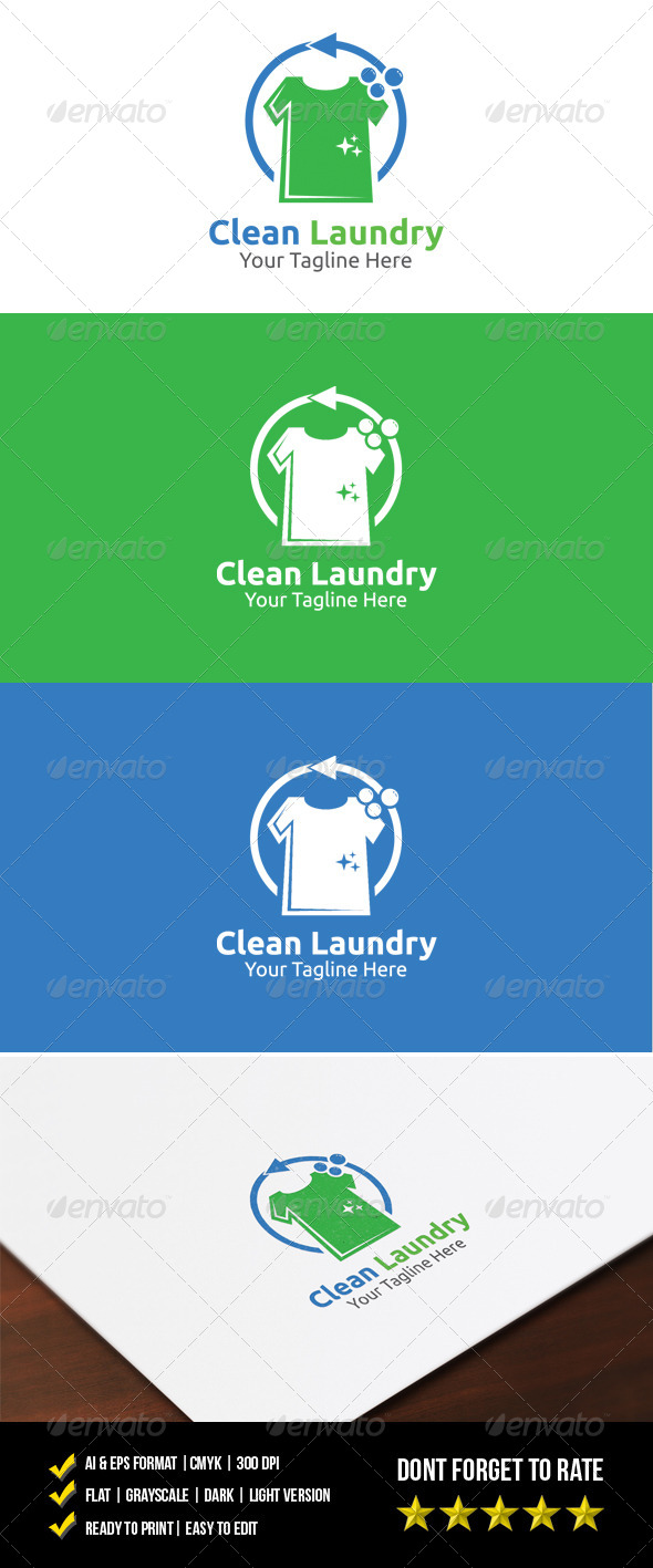 GraphicRiver Clean Laundry Logo 7621400