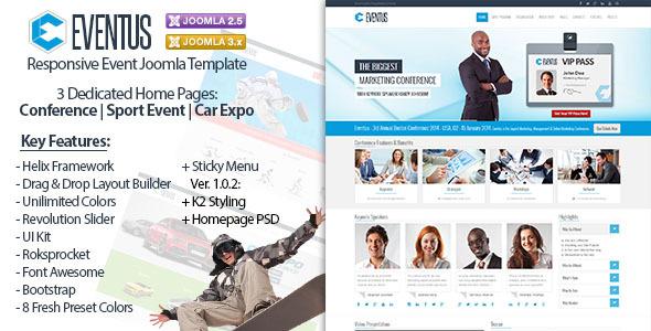 Eventus - Responsive Event Joomla Template