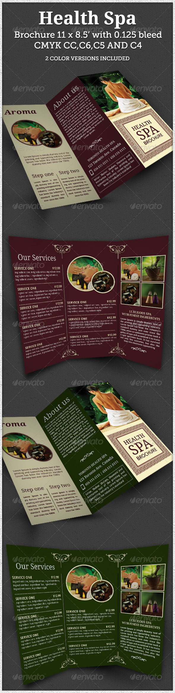 Print templates health spa brochure indesign template for 8 5 x 11 brochure template indesign