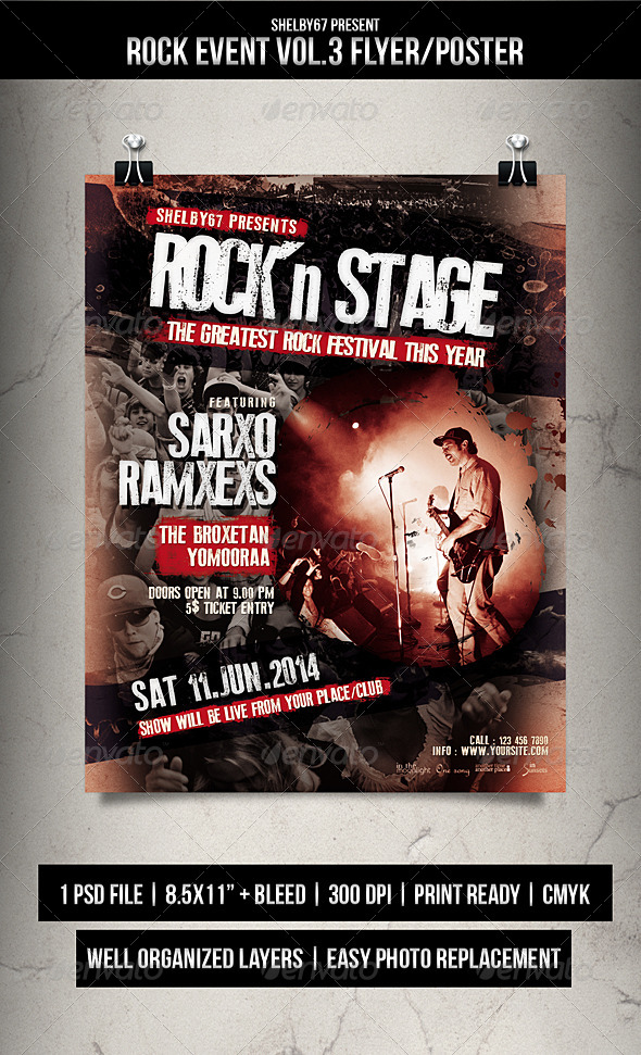 GraphicRiver Rock Event Flyer Poster Vol.3 7621913