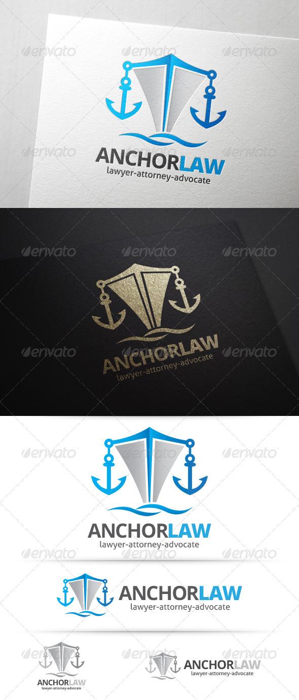 GraphicRiver Anchor Law Logo 7622203