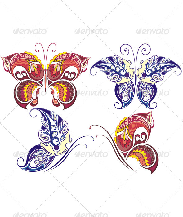 GraphicRiver Collection of Butterflies 7623200