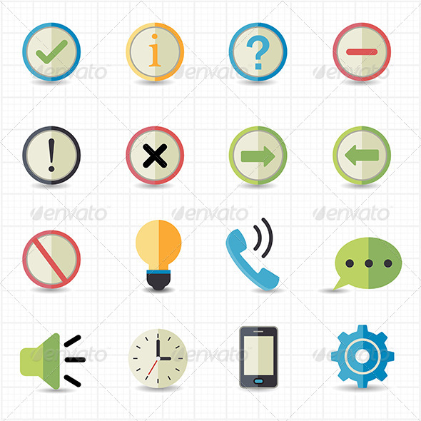 GraphicRiver Notification and Information Icons 7623229