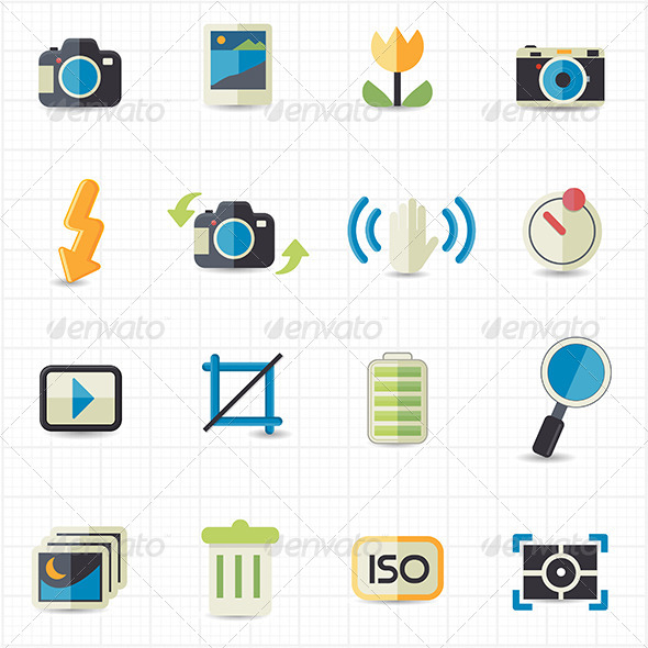 GraphicRiver Photo Camera Setting Icons 7623308