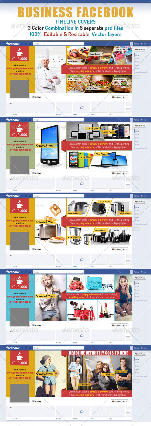 GraphicRiver Business Facebook Timeline Cover 7623788
