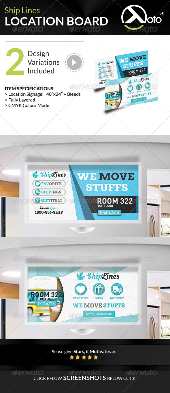 GraphicRiver Ship Lines Shipping Service Location 7624339