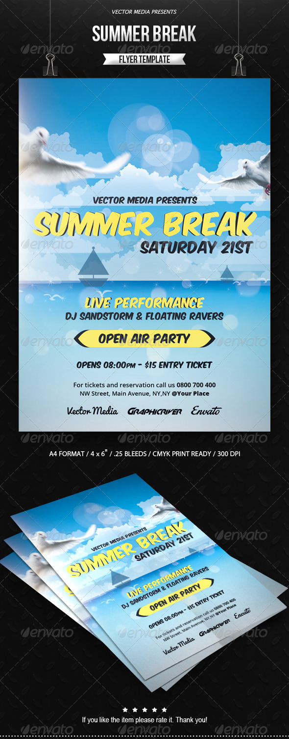 GraphicRiver Summer Break Flyer 7624631