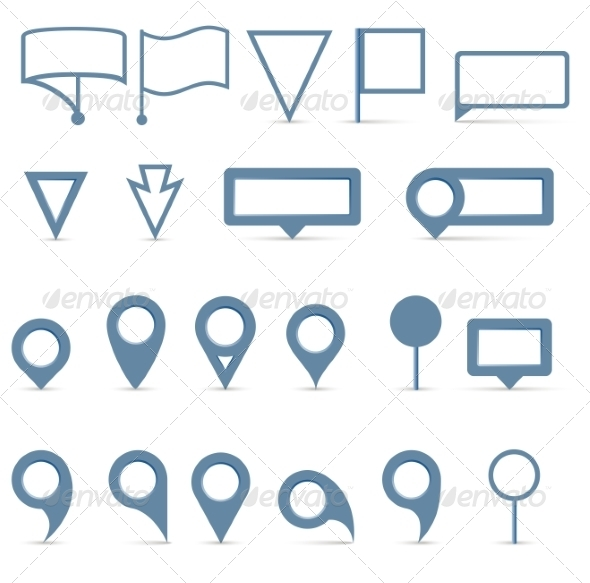 GraphicRiver Map Pointer Icons Set 7625841