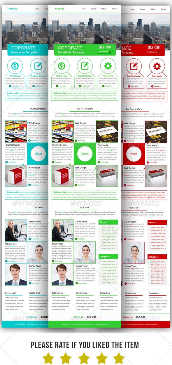 GraphicRiver Protfolio E-Newsletter Template 7602422