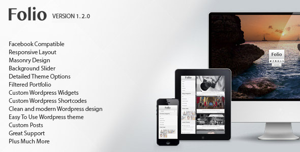 Folio - Responsive Photographers Wordpress Theme